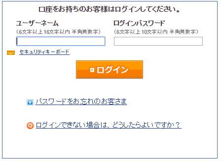 SBI証券のログイン画面