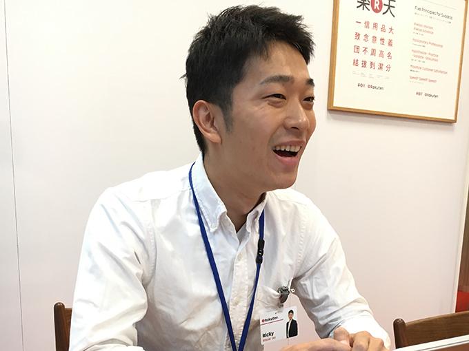楽天証券のアピールポイントを語る土井さん