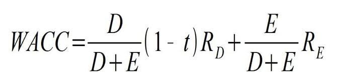WACCの計算式(法人税を考慮した場合)